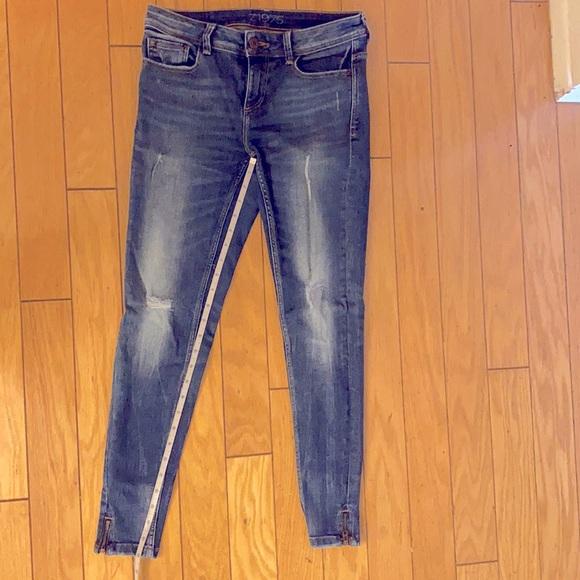 Zara Basic Jean - distressed